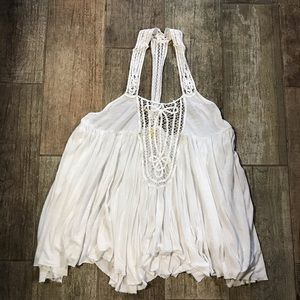 White Free People flowy top